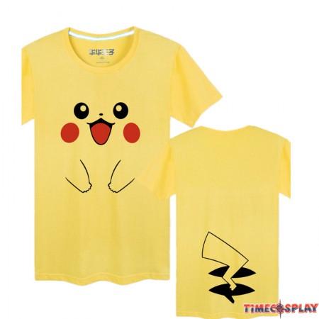 Timecosplay Pokemon Go Pikachu Men Cool Short Sleeve Cosplay Tee Shirt