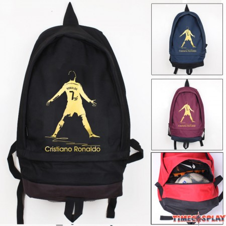 Timecosplay Real Madrid  Ronaldo Celebrate Logo School bag Backpack