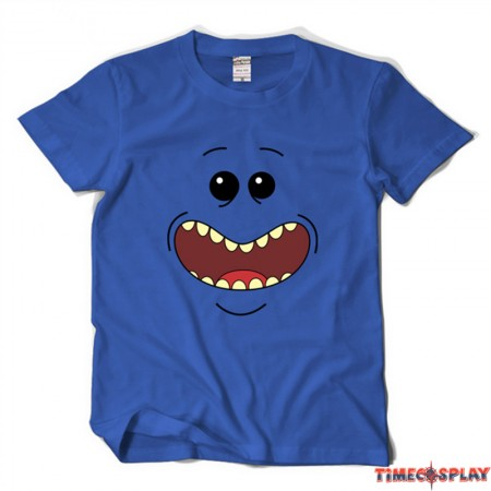 Timecosplay Rick and Morty Mr.Meeseeks Short Sleeve Tee Shirts