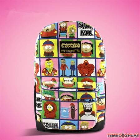 Timecosplay South Park 3D Shoulders Bag Schoolbag Backpack