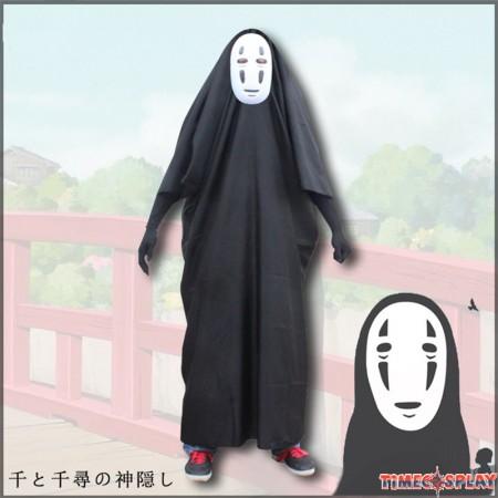 Miyazaki Hayao Spirited Away Cosplay No Face Cosplay Costume