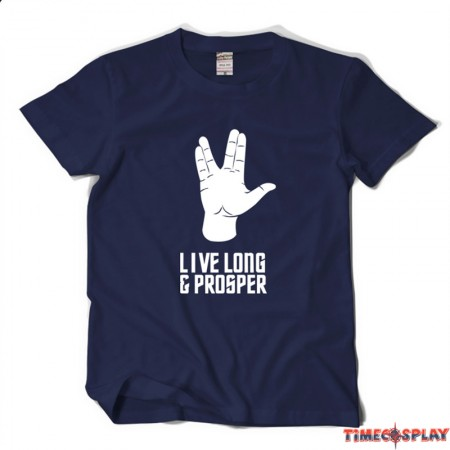 Timecosplay Star Trek Spock Live Long and Prosper T-Shirts