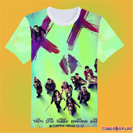 Timecosplay Suicide Squad  3D Print Harajuku Tee Shirts