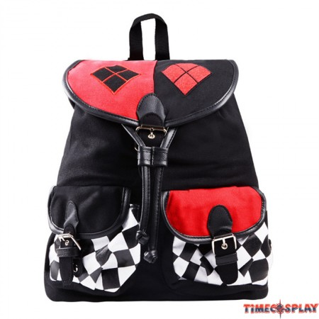Timecosplay Suicide Squad Harley Quinn Knapsack Cosplay Backpack