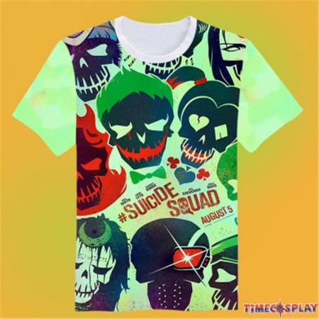 Timecosplay Suicide Squad image3D Print Harajuku Tee Shirts