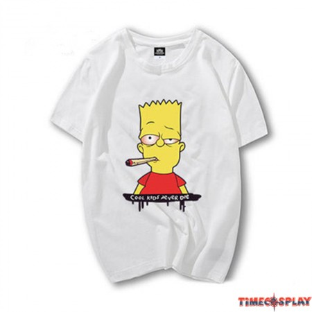 Timecosplay The simpsons Bart Simpson Good Luck Icon Men Tee Shirt