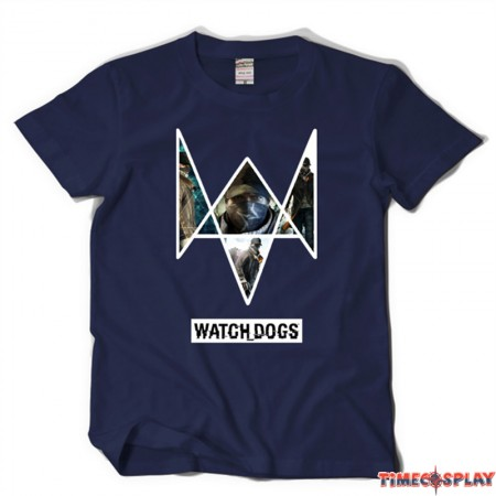 TimeCosplay Watch Dogs Logo Men Tee Shirt T-Shirt