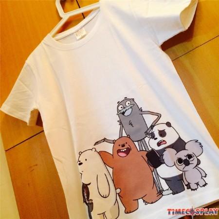 Timecosplay We Bare Bears White Tee Shirts
