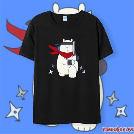 Timecosplay We Bare BearsIce Bear Tee Shirts