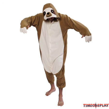 TimeCosplay Zootopia Sloth Animal Cosplay Onesie Pajamas Halloween Kigurumi