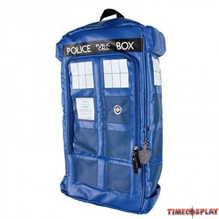 TimecosplayDoctor Who Figural Police Box TARDIS Cosplay Shoulders Bag Schoolbag
