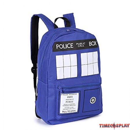 Doctor Who Police Box TARDIS Cosplay Fashion Shoulders Bag Schoolbag