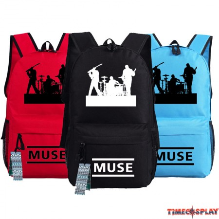 United Kingdom Muse Rock Band Logo Backpack School Bag