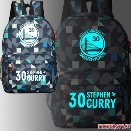 Warriors Stephen Curry 30 Glow Luminous Schoolbag Backpack