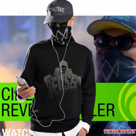 Watch Dog 2 Marcus Holloway Cosplay Faux Two-pieces Pullover Sweater Hoodies