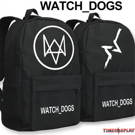 Watch Dogs Logo Backpack Schoolbag