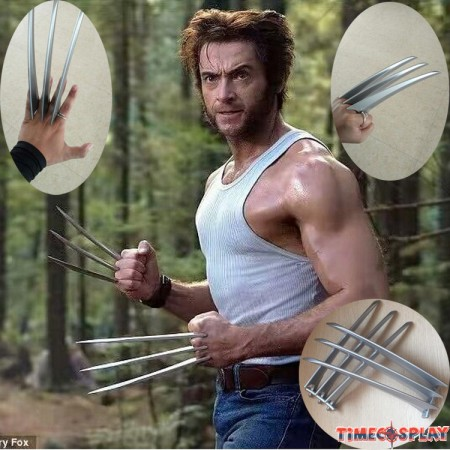 Wolverine Claws Hard Plastic Weapons Cosplay Props 2PCs