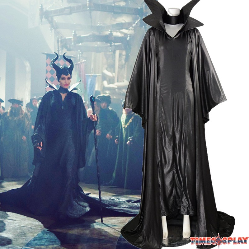 Disney Maleficent Cosplay Angelina Jolie Black Withch ...