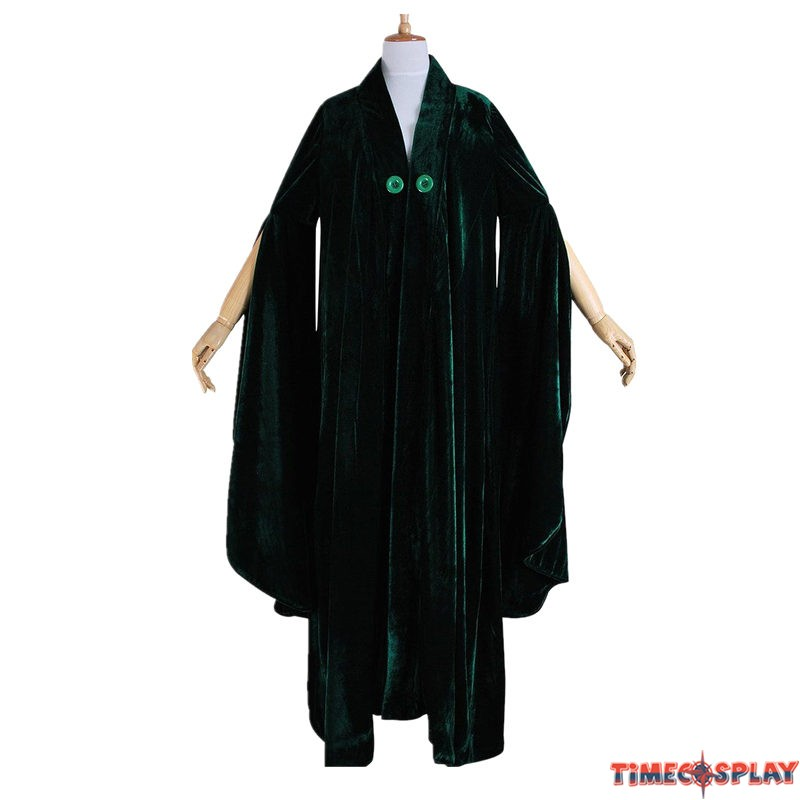 harry potter minerva mcgonagall cloak dress cosplay costume