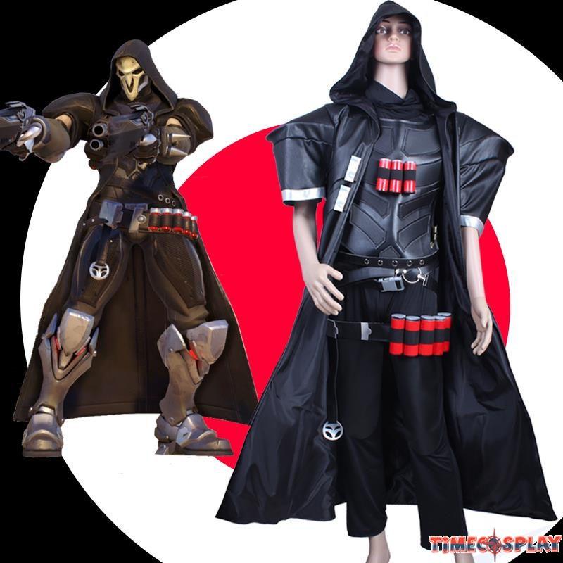 overwatch ow reaper cosplay set halloween costumes - Reaper Halloween