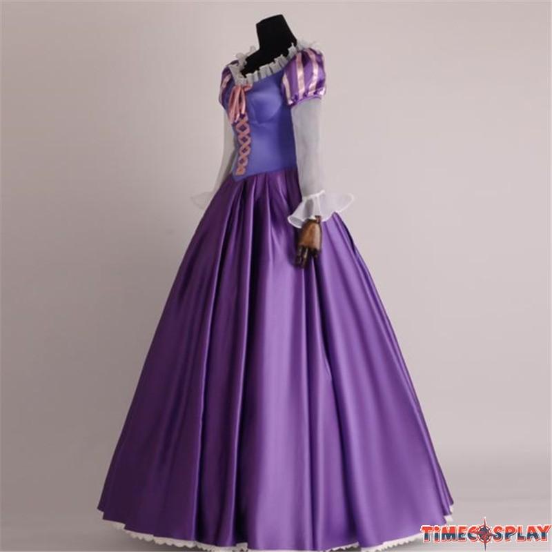 Timecosplay disney tangled princess rapunzel adult cosplay costume dress deluxe original version - Costume princesse disney adulte ...