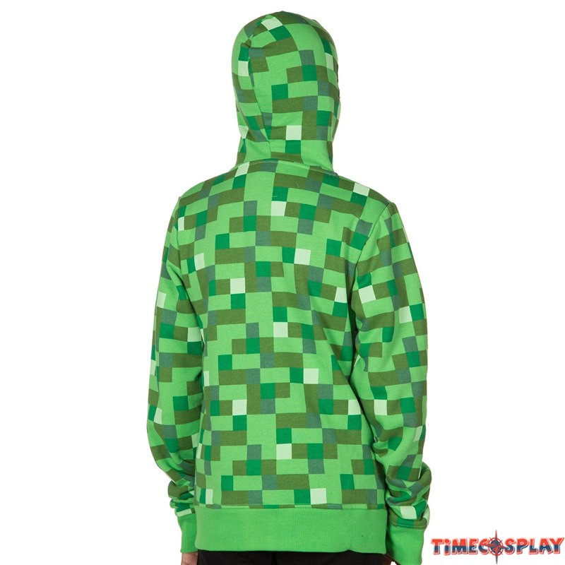Minecraft zip up hoodie