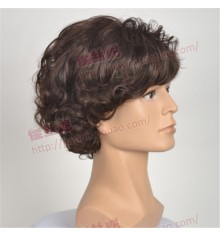 Sherlock Holmes Brown Short Wavy Cosplay Wigs