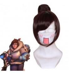 Timecosplay OW Overwatch Zhou Meiling  MEI Cosplay Wigs