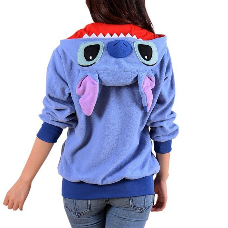 Timecosplay Anime Pokemon Go Cute Cartoon Stitch Stitch Blue Cosplay Hoodie Kigurumi Sweater