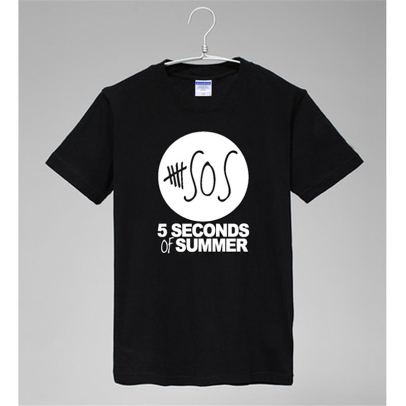 5 Seconds Of Summer LOGO SOSO Cool  Tee-Shirts