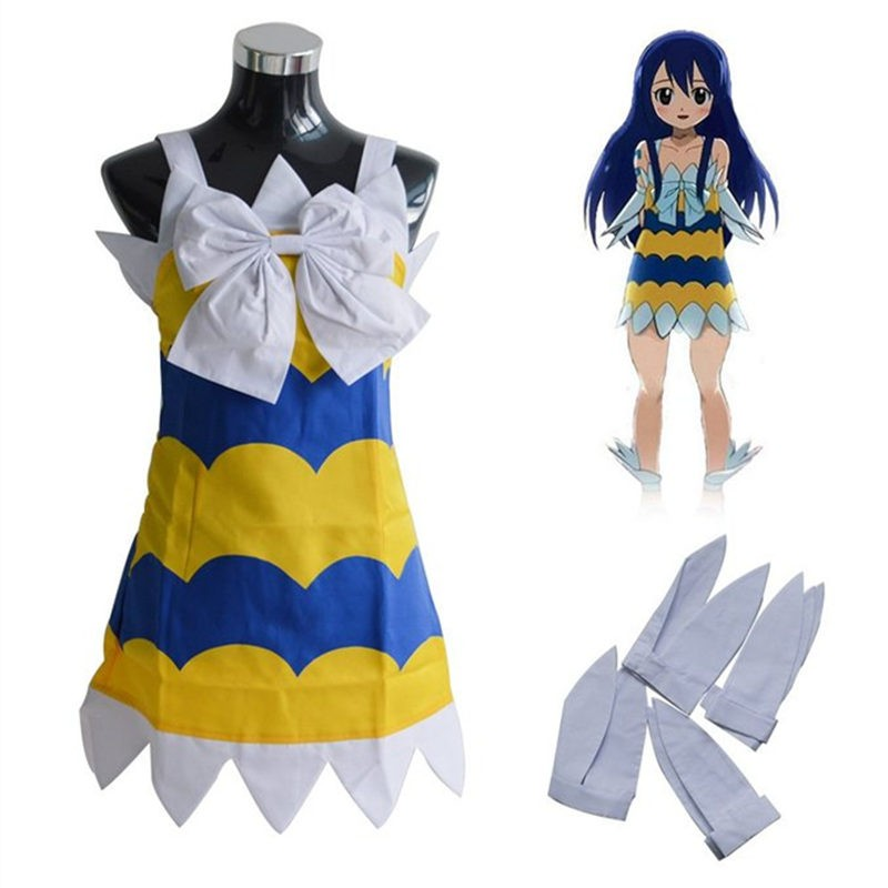 Fairy Tail Wendy Marvell Cosplay Dress Costume Outfits