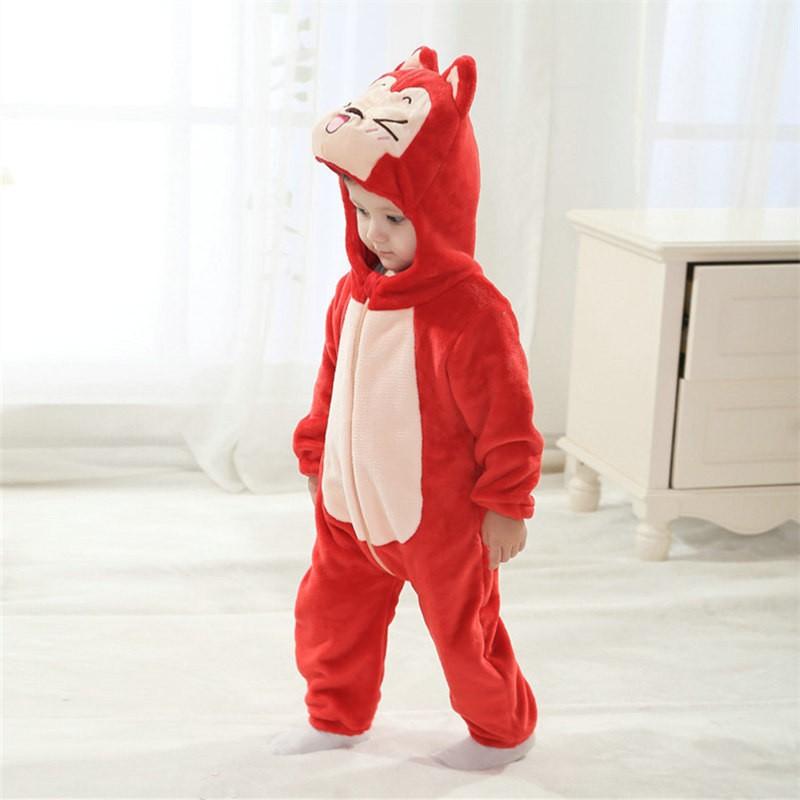 Ali Red Fox Animal Onesies Baby Pajamas Toddler Kigurumi For Babies