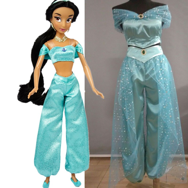 Animation Aladdin Princess Jasmine Halloween Party Deluxe Costume Cosplay