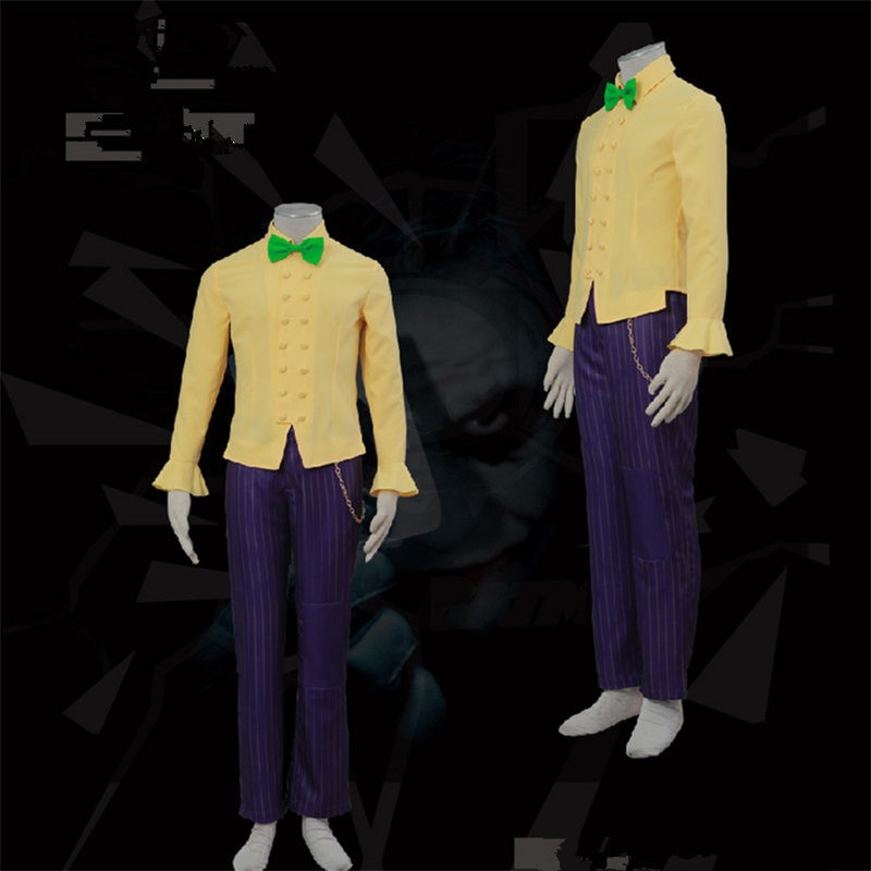 Batman Arkham City Cosplay The Joker Halloween  Costumes Classic Party Suit