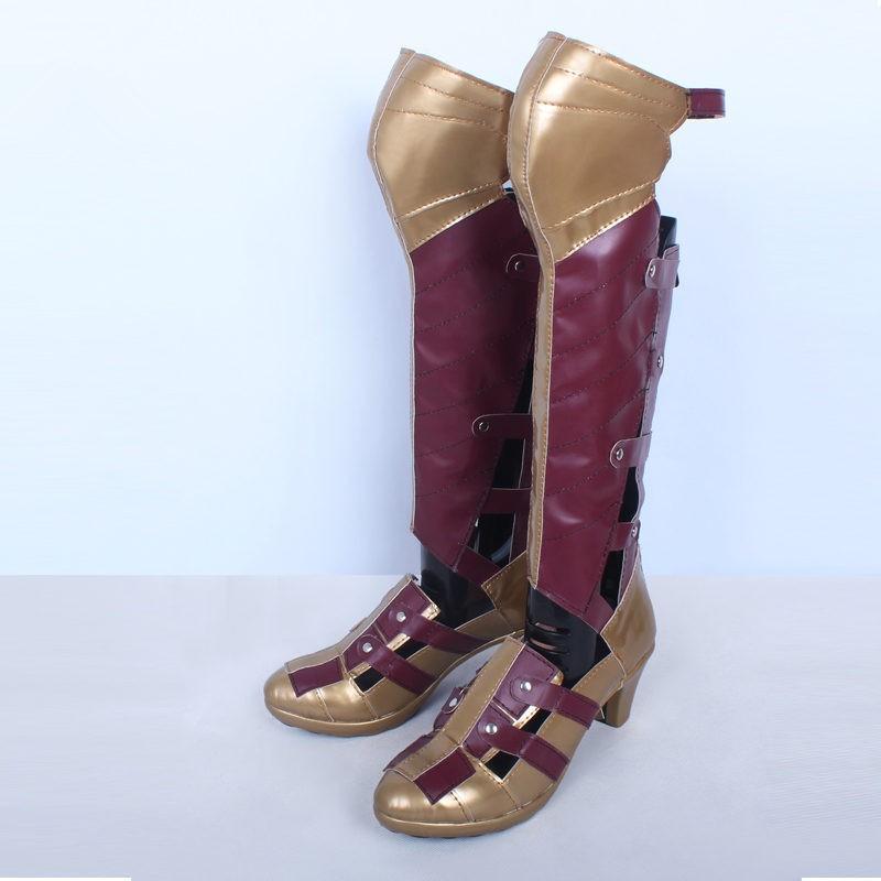 Batman v Superman: Dawn of Justice Wonder Woman Shoes Cosplay Halloween Boots
