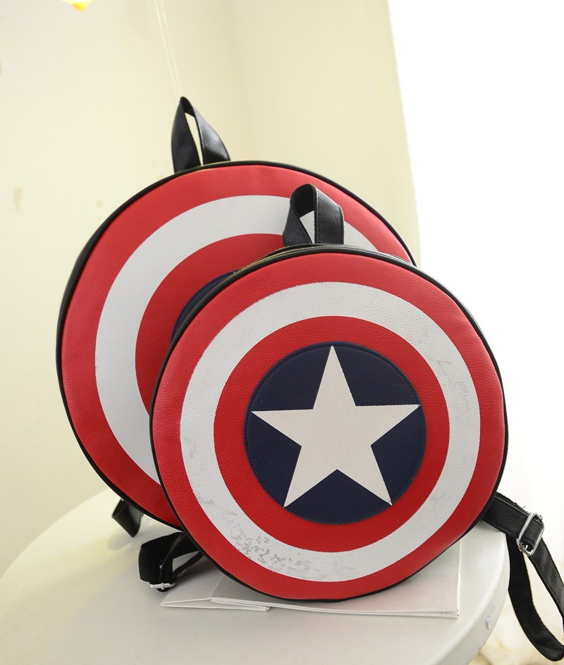 Captain America Shield Logo Cool Backpack Bag