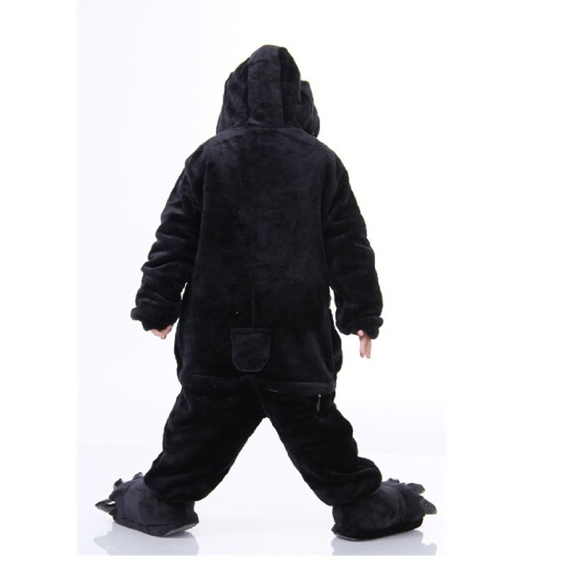 Childrens Halloween Black Penguin Kigurumi Onesie Animal Pajama Cosplay For Kids