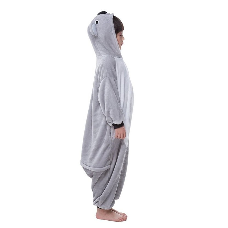 Childrens Halloween Grey Koala Onesie Kigurumi Onesie Animal Pajama Cosplay For Kids