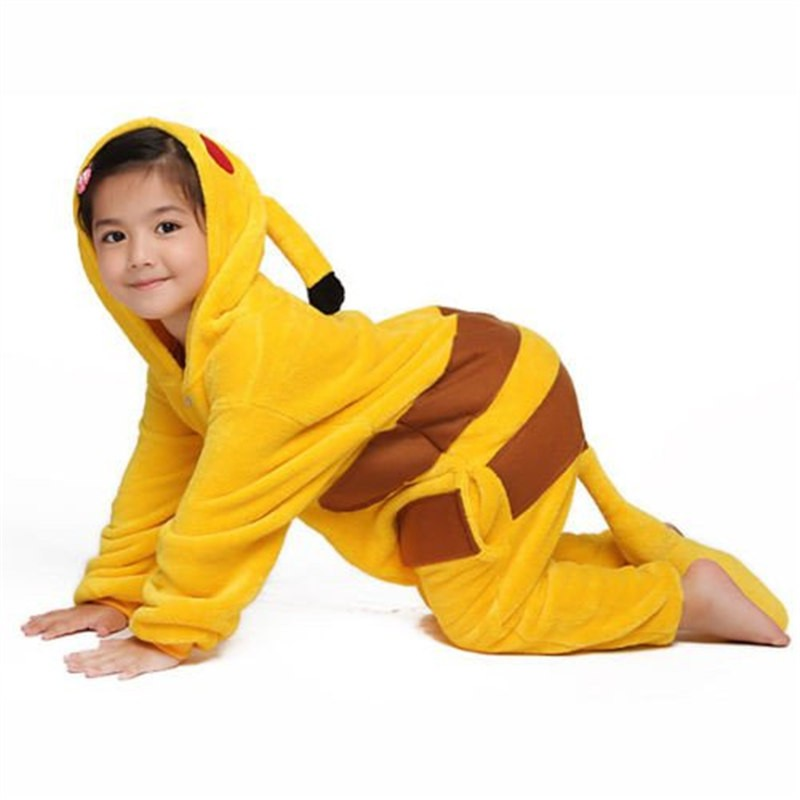 Childrens Halloween Pikachu Onesie Kigurumi Onesie Animal Pajama Cosplay For Kids