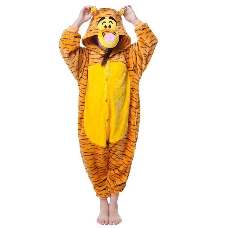Childrens Halloween Tigger Onesie Kigurumi Onesie Animal Pajama Cosplay For Kids