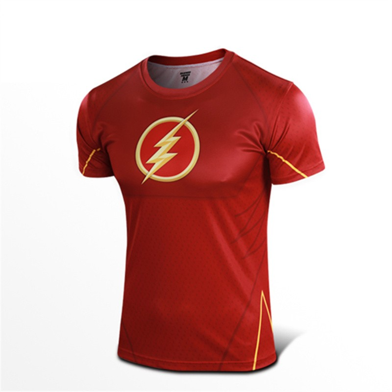 DC Super Hero The Flash Cosplay Tee Shirt T-Shirts