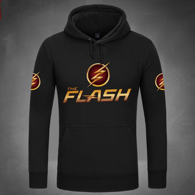 DC Super Hero The Flash Logo Pullover Hoodies