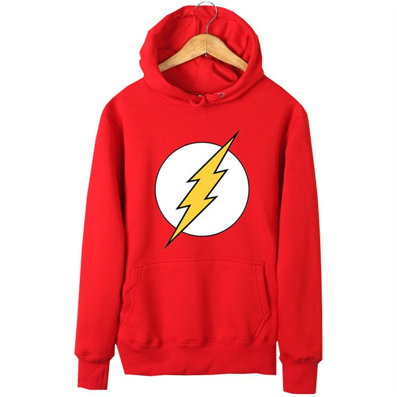 DC The Flash Logo Pullover Hoodies Sweatshirts
