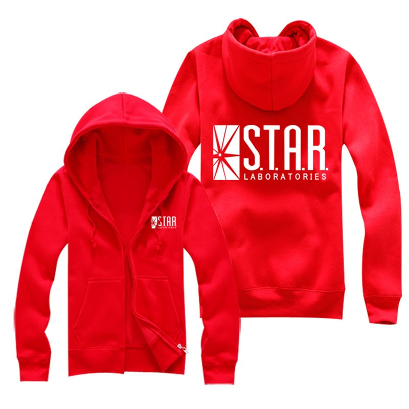 DC The Flash Star Zipper Hoodies