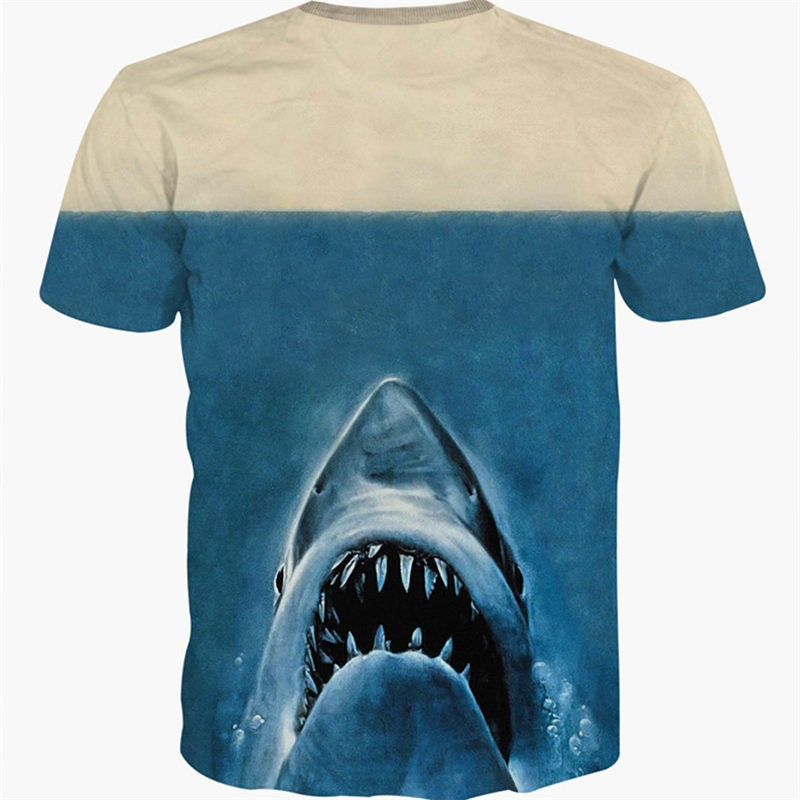 Deadpool 3D Shark Style Men T-shirt Tee Shirt