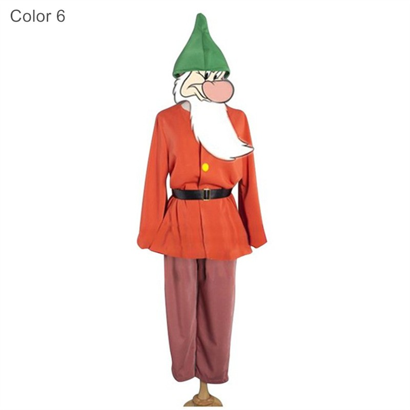 Disney Movie Snow White 7 Seven Dwarfs Party Costumes Cosplay