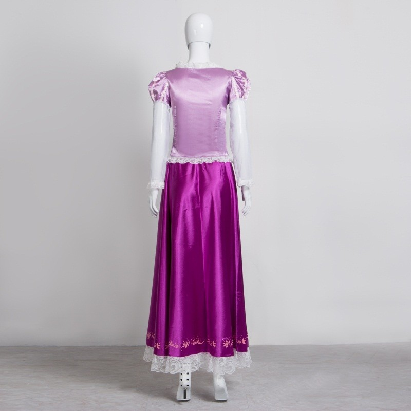 Disney Tangled Rapunzel Princess Cosplay Dress Costume