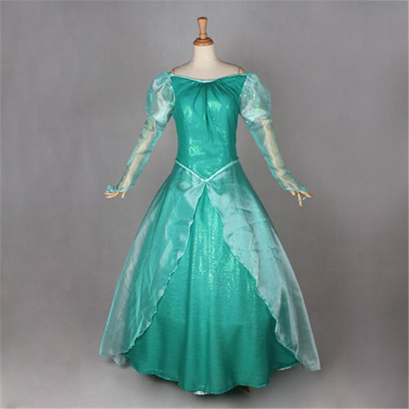 Disney Little Mermaid Ariel Princess Dress Party Costume Cosplay