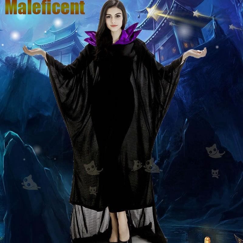 Disney Maleficent Black Witch Princess Dress Cosplay Halloween Costumes