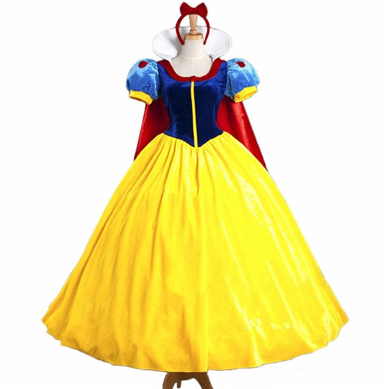 Disney Movie Snow White Princess Dress Cosplay Costumes